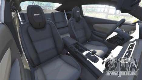 GTA 5 Chevrolet Camaro SS 2014 v1.1 droite vue latérale