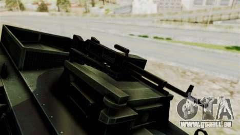Alvis AT105E Saxon pour GTA San Andreas vue arrière