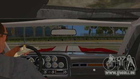 1972 Ford Gran Torino Drag pour GTA San Andreas vue intérieure