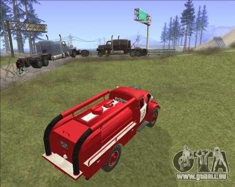 GAZ 63 moteur de Feu pour GTA San Andreas vue arrière