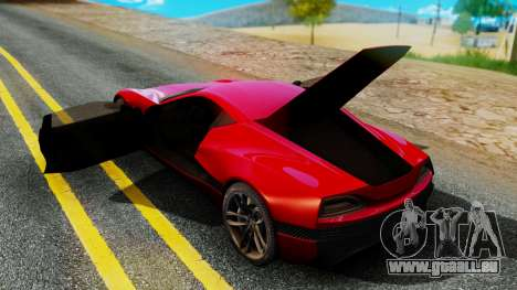 Rimac Concept One für GTA San Andreas zurück linke Ansicht