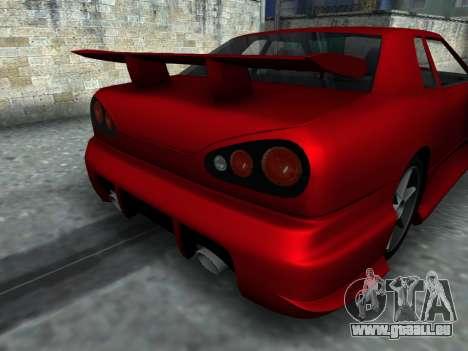 Elegy PFR v1.0 pour GTA San Andreas vue arrière