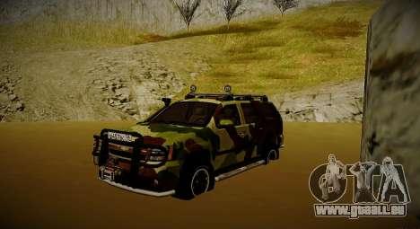 Chevrolet Tahoe LTZ v2 Camofluge für GTA San Andreas
