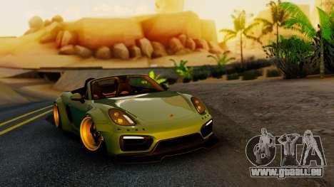 Porsche Boxster GTS LB Work für GTA San Andreas
