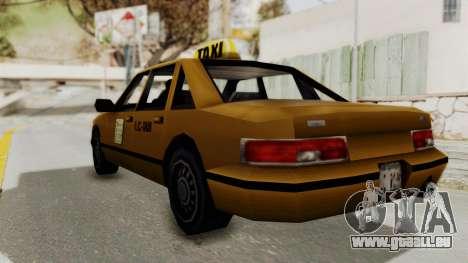 GTA 3 - Taxi pour GTA San Andreas laissé vue