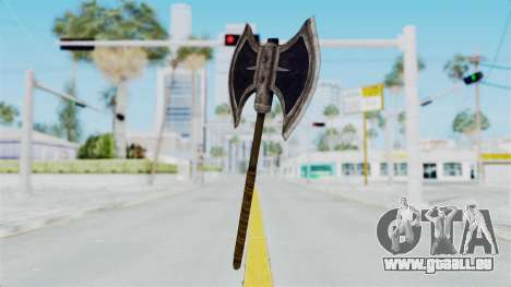 Skyrim Iron Battle Axe für GTA San Andreas
