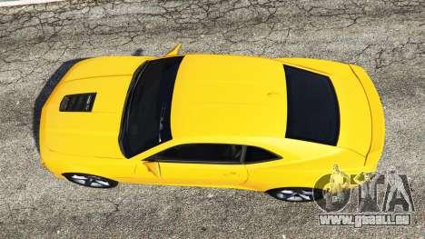 GTA 5 Chevrolet Camaro SS 2014 v1.1 vue arrière