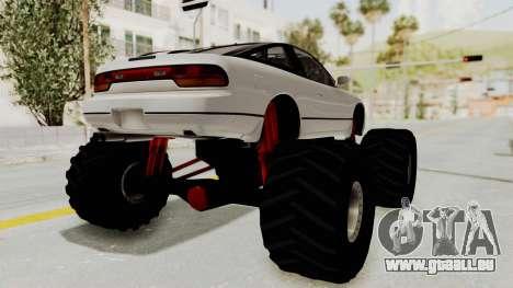 Nissan 240SX Monster Truck pour GTA San Andreas laissé vue