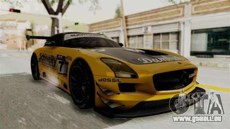 Mercedes-Benz SLS AMG GT3 PJ3 pour GTA San Andreas vue de côté