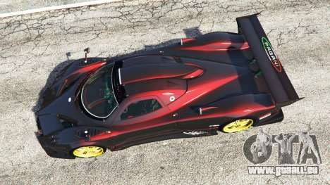 GTA 5 Pagani Zonda R vue arrière
