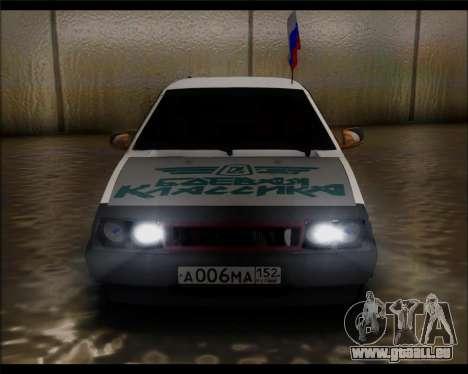 VAZ 2108 Militaires Classiques pour GTA San Andreas vue de droite