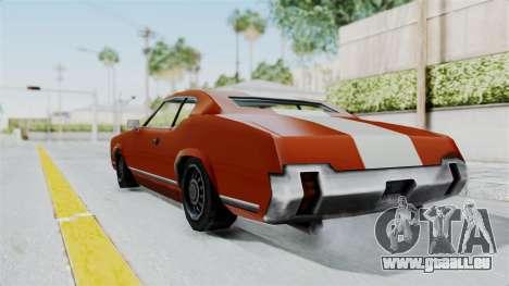 GTA Vice City - Sabre Turbo (Unsprayable) pour GTA San Andreas laissé vue