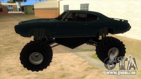 1969 Pontiac GTO Monster Truck pour GTA San Andreas laissé vue