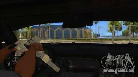 Mercedes Benz SLS AMG GT3 pour GTA San Andreas vue de dessous