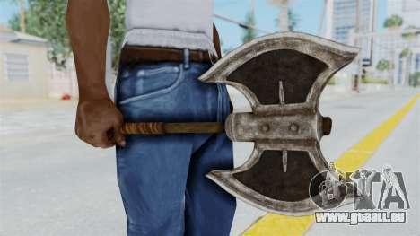 Skyrim Iron Battle Axe für GTA San Andreas zweiten Screenshot