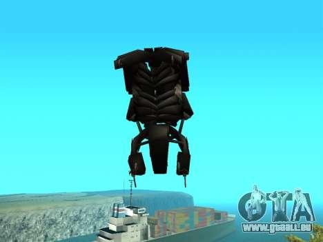 The Dark Knight Rises BAT v1 pour GTA San Andreas vue de côté