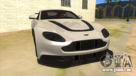 2015 Aston Martin Vantage GT12 für GTA San Andreas Rückansicht