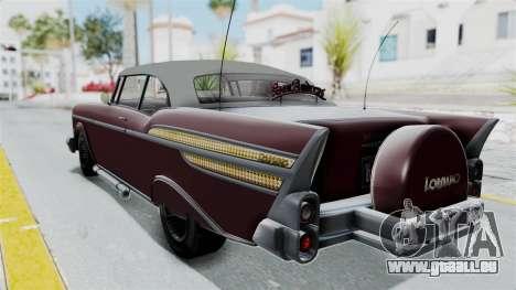 GTA 5 Declasse Tornado Bobbles and Plaques pour GTA San Andreas sur la vue arrière gauche
