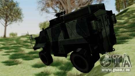 Alvis AT105E Saxon pour GTA San Andreas laissé vue