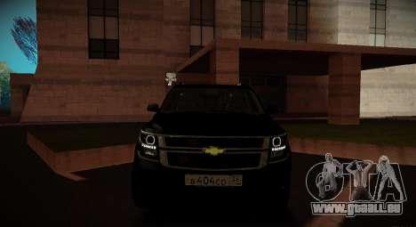 2015 Chevrolet Suburban Staatsanwaltschaft für GTA San Andreas Innenansicht