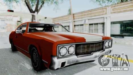 GTA Vice City - Sabre Turbo (Unsprayable) pour GTA San Andreas