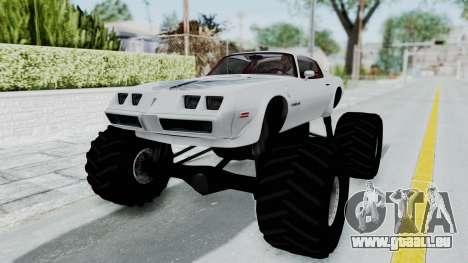 Pontiac Firebird Trans Am Monster Truck 1980 für GTA San Andreas