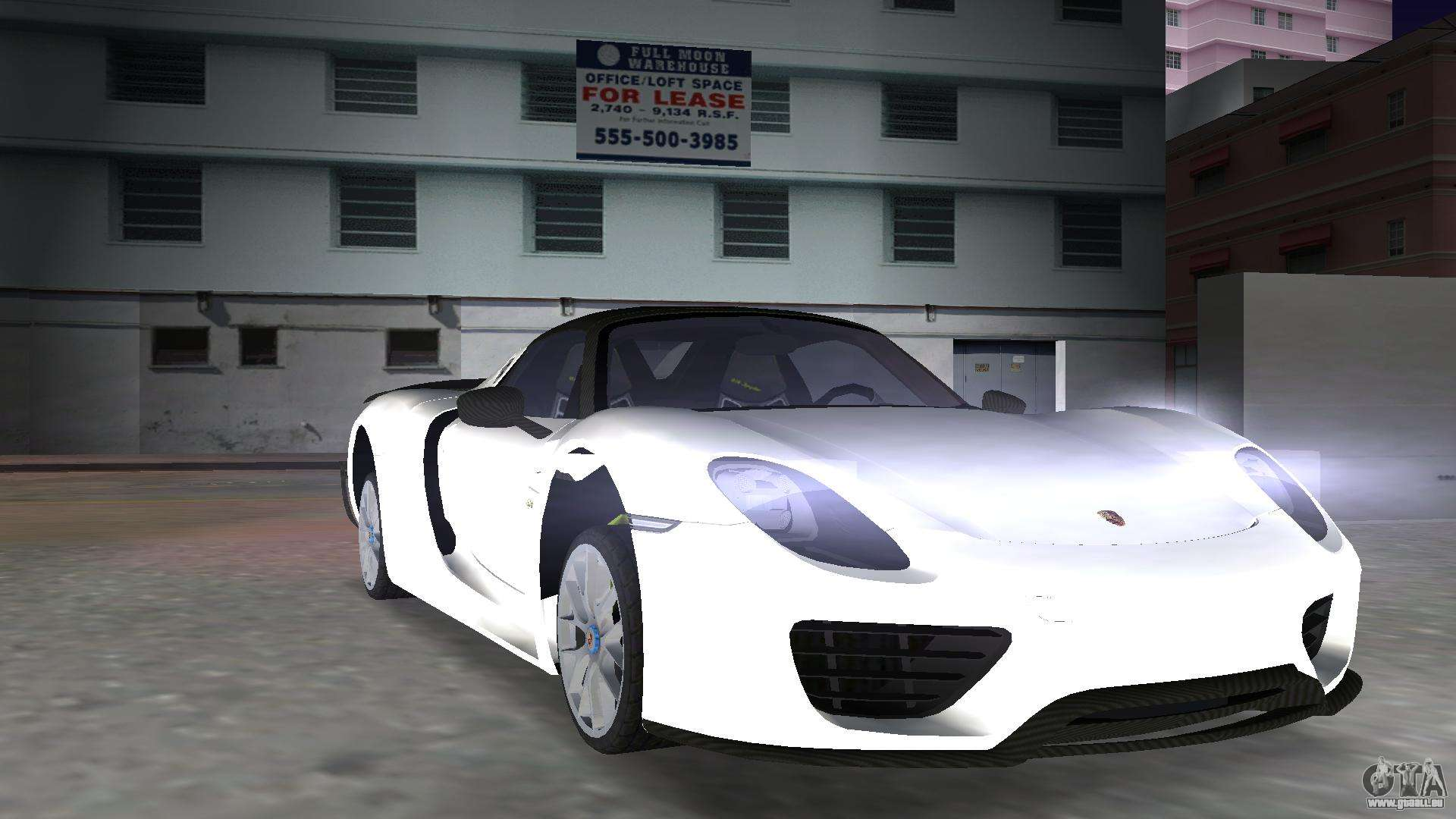 2016 porsche 918 spyder weissach package pour gta vice city for Porsche 918 interieur