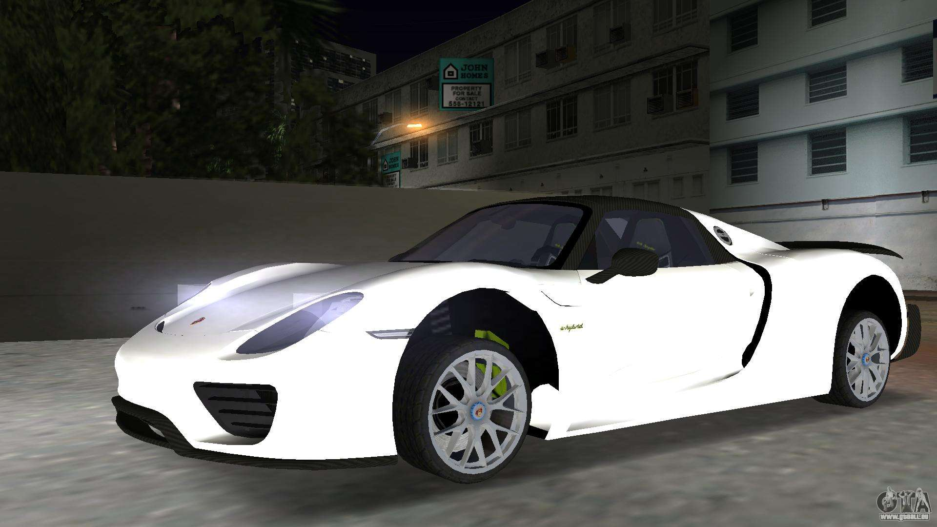 2016 porsche 918 spyder weissach package f r gta vice city. Black Bedroom Furniture Sets. Home Design Ideas