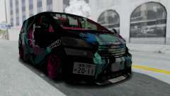 Toyota Vellfire Miku Pocky Exhaust Final Version pour GTA San Andreas