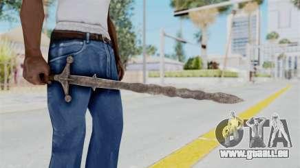 Skyrim Iron Claymore pour GTA San Andreas