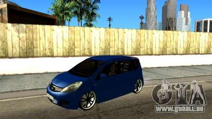 Nissan Note KURMIN StreetRacer pour GTA San Andreas