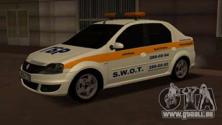 Renault Logan Security Service pour GTA San Andreas