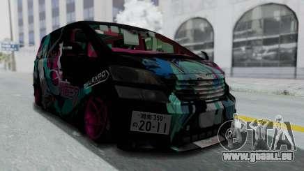 Toyota Vellfire Miku Pocky Exhaust Final Version für GTA San Andreas