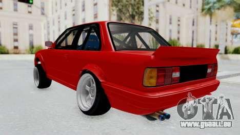 BMW M3 E30 Rocket Bunny Drift Style pour GTA San Andreas laissé vue
