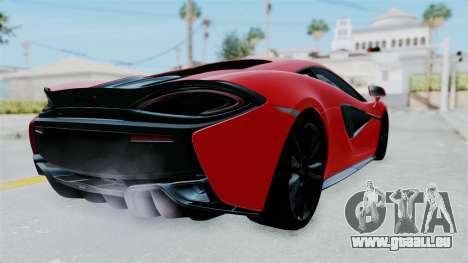 McLaren 570S 2016 für GTA San Andreas rechten Ansicht