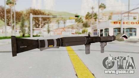 GTA 5 Rocket Launcher Shark mouth für GTA San Andreas dritten Screenshot
