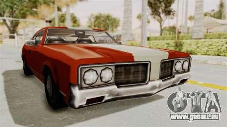Beta VC Sabre Turbo für GTA San Andreas zurück linke Ansicht