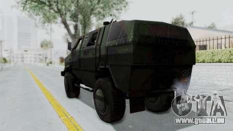 ATF Dingo pour GTA San Andreas laissé vue