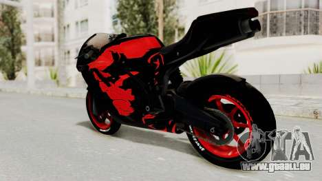 Bati Batik Hellboy Motorcycle v3 pour GTA San Andreas laissé vue