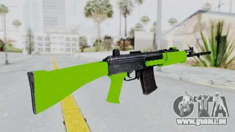 IOFB INSAS Light Green pour GTA San Andreas deuxième écran