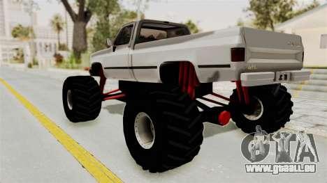 Chevrolet Silverado Classic 1985 Monster Truck für GTA San Andreas linke Ansicht