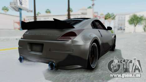 Nissan 350Z V6 Power für GTA San Andreas linke Ansicht
