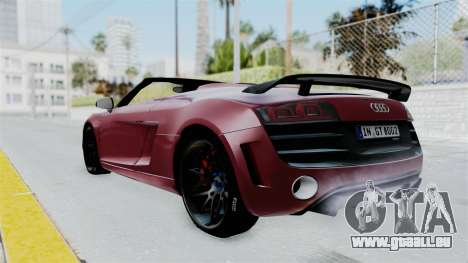 Audi R8 Spyder 2014 LB Work für GTA San Andreas linke Ansicht