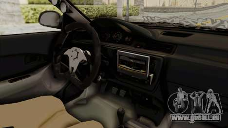 Honda Civic Hatchback 1994 Tuning pour GTA San Andreas vue intérieure