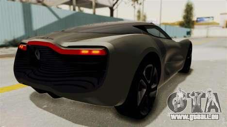 Renault Dezir Concept pour GTA San Andreas laissé vue
