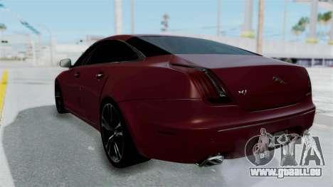 Jaguar XJ 2010 pour GTA San Andreas laissé vue