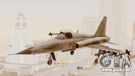 Northrop F-5E Tiger II JASDF pour GTA San Andreas sur la vue arrière gauche
