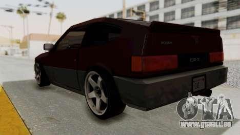 Blista CRX pour GTA San Andreas laissé vue