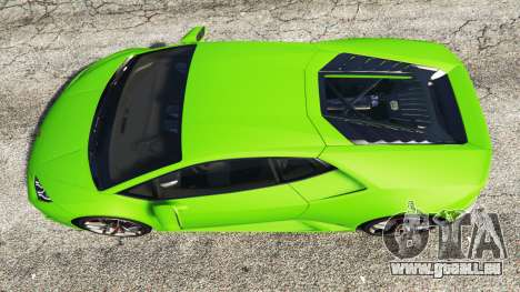 GTA 5 Lamborghini Huracan LP 610-4 2016 vue arrière