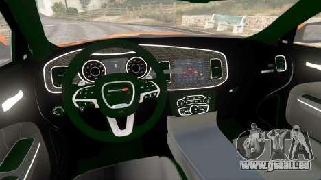 GTA 5 Dodge Charger SRT Hellcat 2015 v1.2 hinten rechts